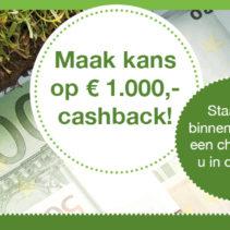 Ook kans maken op € 1.000 cashback?